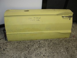 66 Ford T-bird Tbird Left Door Shell w/ Handle Power Lock Cylinder Vacuum Lines - $74.99
