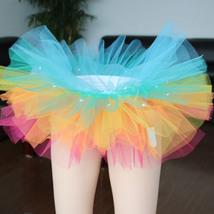 WOMEN MINI TUTU Skirt with Lights High Waisted Many Color Mini Petticoat Costume image 2