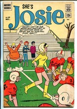 Josie #10 1964-Archie-Football cover-VG - $49.66