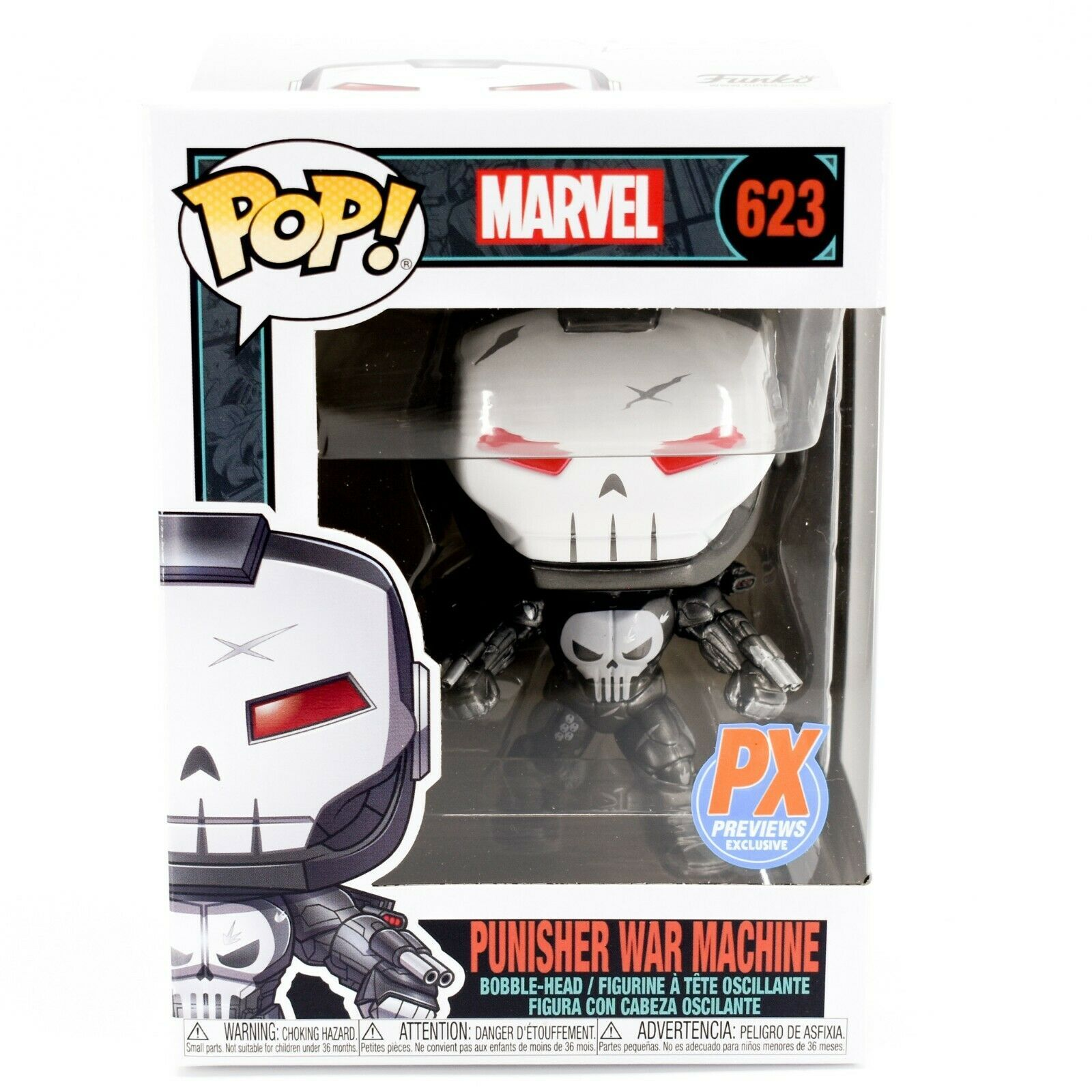 Funko Pop! Marvel Punisher War Machine PX Exclusive Bobble-Head Figure #623