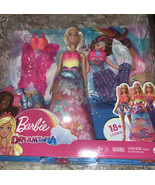 Barbie Dreamtopia Dress Up Doll Set, 11.5-Inch, Blonde with 3 Fashions New - $20.37