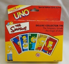 Simpsons Uno Card Game Special Edition Deluxe Collector Tin 2001 SEALED ... - $17.72