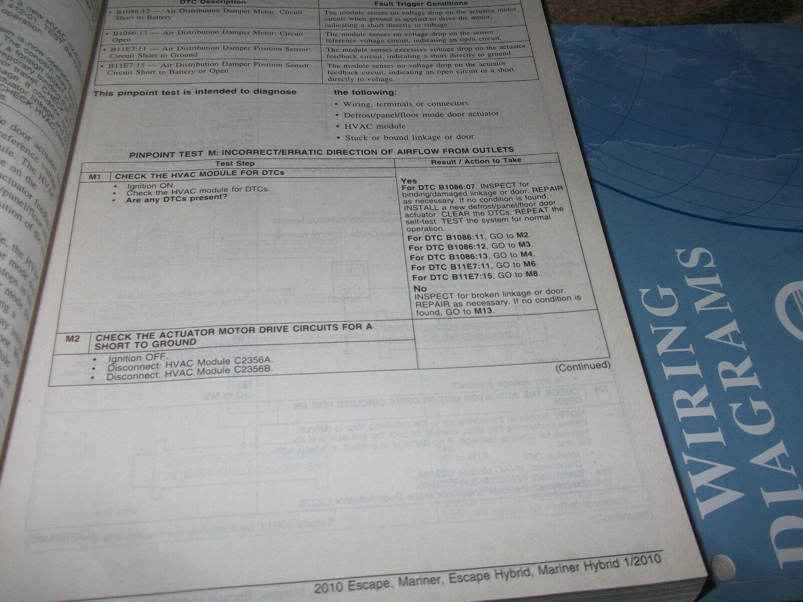 2010 Ford Escape Mercury Mariner & Hybrid Service Shop Repair Manual SET OEM image 10