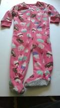 Carter's 12 Months fleece  SLEEPER Cupcake Donuts Pink Pajama 1 piece Zipper - $3.95