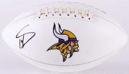 Stefon Diggs Signed Full Size Vikings Logo Football TSE Signing - $112.19