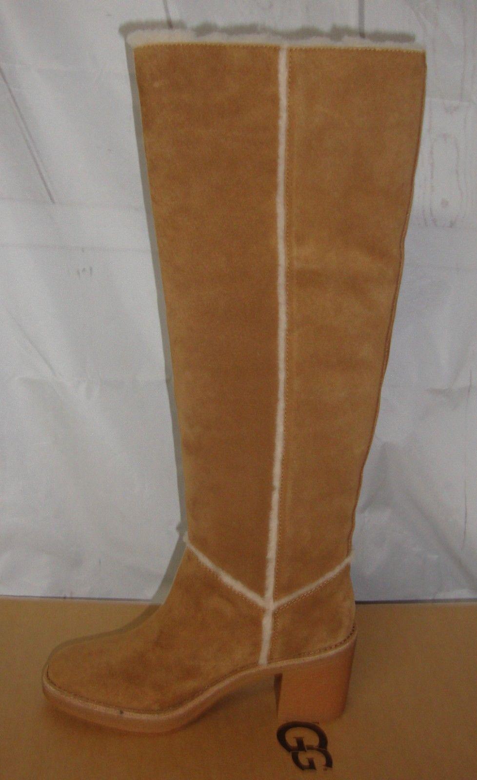 Ugg Kasen Tall Chestnut Suede Sheepskin Heel and 50 similar