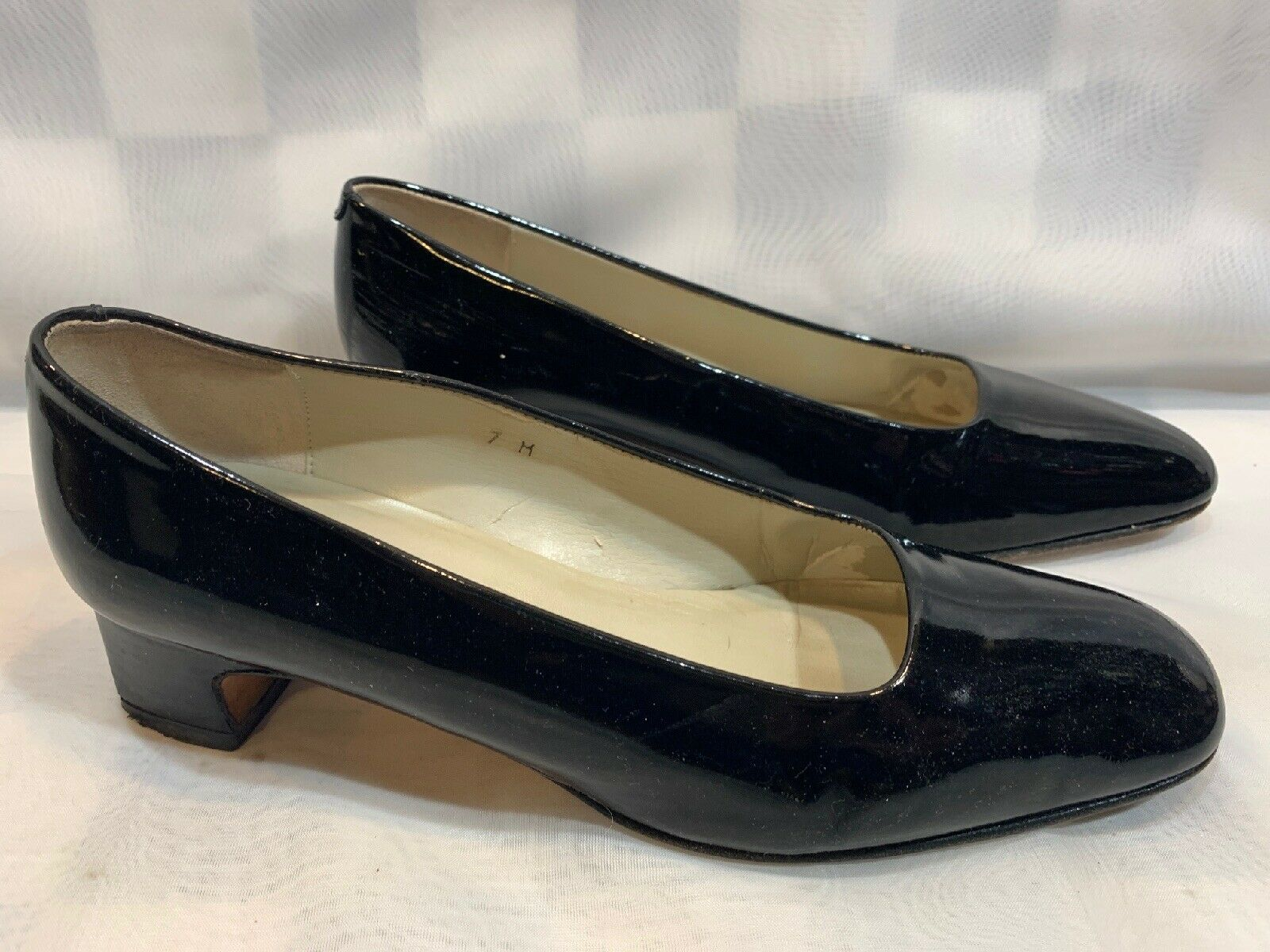 Primary image for TALBOTS Black Patent Heels Women's Shoes Size 7 M