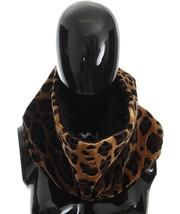 Dolce & Gabbana Leopard Print Black Lamb Fur Scarf - $1,347.77