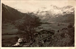 VINTAGE POSTCARD- LANDSDALE VALLEY AND PIKES, ENGLAND  (RPPC) BK23 - $2.94
