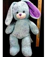 """BUILD A BEAR Bunny Rabbit Blue Sparkle Snowflake 17"""" Soft Christmas Purp... - $16.82"""
