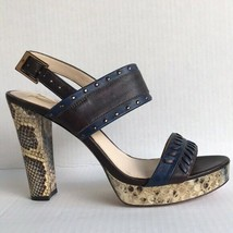 Vince Camuto Signature Shoes Womens  leather snakeskin platform Heels 9.5M - $38.99
