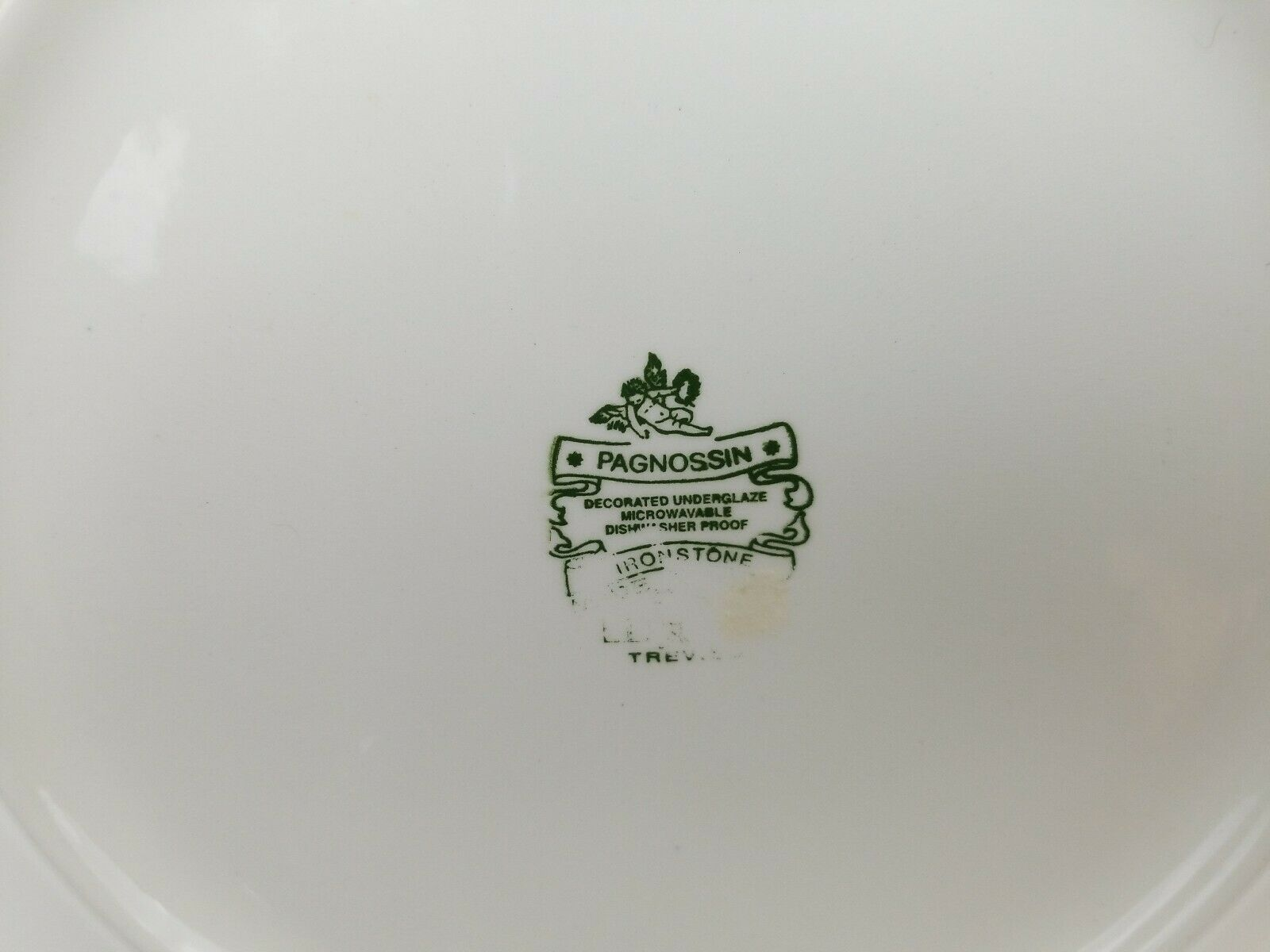 """Pagnossin Trevisco Dinner Plate 10 5/8"""" Ironstone Spa Rust, Italy LD06 Dish Safe image 3"""