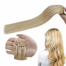 Hetto Micro Ring Pre Bonded Human Hair Extensions Blonde #16 Mix With #22 Blonde image 1