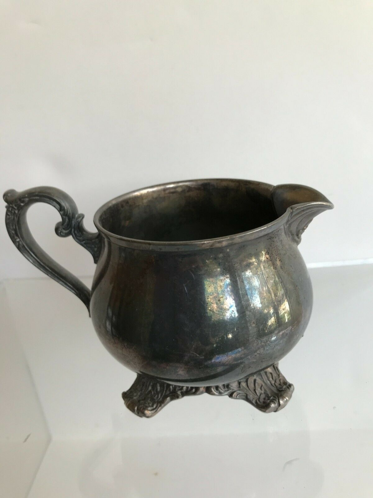 WM Rogers Creamer Victorian Rose 1904 Silver-plated - $19.95