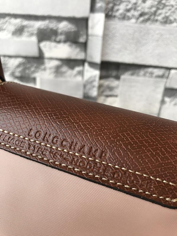 Longchamp Le Pliage Small Short Handel Nylon Handbag Light Pink 1621089A26
