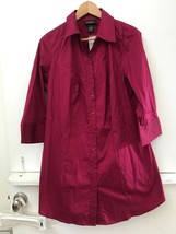 Lane Bryant Maroon Button Down Tunic Shirt Top 3/4 Sleeve Women's Size 14 NWT - $24.95
