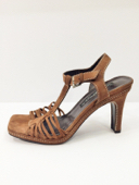 Via Spiga Pre-owned Brown Suede Strappy Italian Sandals, Sz. 7.5 MSRP $225 image 3