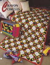 Crayon Circles, Annie's Crochet Quilt & Afghan Pattern Club Leaflet 2216... - $3.95