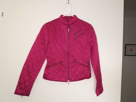Women's Size 2 Trendy Jacket Garnet Quilted Zipper-Up New Without Tag - $15.79
