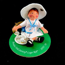 "Annalee Doll Society 1997 1998 Tea Time Logo Kid Membership Kit Girl Doll 7"" - $20.42"