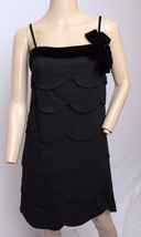 VTG 60's Lee Jordan Black Tiered Velvet Bow Trim Cocktail Party Prom Min... - $123.49