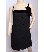VTG 60's Lee Jordan Black Tiered Velvet Bow Trim Cocktail Party Prom Mini Dress - $123.49