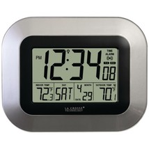 La Crosse Technology WS-8115U-S Atomic Digital Wall Clock with Indoor/Ou... - $45.11
