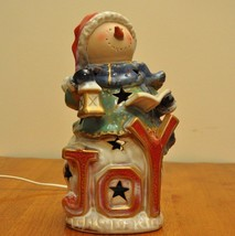Ceramic Snowman Night Light - $20.00