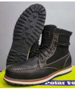 Polar Fox MENS MILITARY COMBAT STYLE ANKLE BOOTS LEATHER LINED SHOES - $39.95
