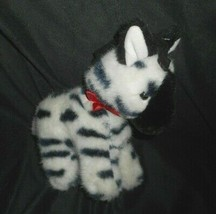 "8"" Vintage 1989 Dakin Musical Wind Up Baby Zebra Black Stuffed Animal Plush Toy - $28.05"