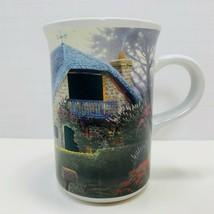 LILAC COTTAGE  Thomas Kinkade 2004 - Heat Sensitive Windows Coffee Tea Mug - $9.49