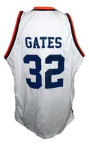 Hoop Dreams Movie Curtis Gates Colby Basketball Jersey Sewn White Any Size image 2