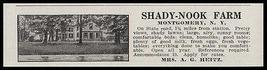 Montgomery 1915 Shady Nook Farm 10 Guests References Required NY Photo AD - $12.99