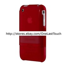 SPECK CASE for IPHONE 2pc* RED+BLACK SeeThru Snap Fit PROTECTIVE HARDSHE... - $7.90