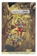 Castle of Gnomes Fairyland Gardens Rock City GA Lookout Mountain Linen Postcard - $4.99
