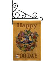 Happy Boo Day Burlap - Impressions Decorative Metal Fansy Wall Bracket Garden Fl - $33.97