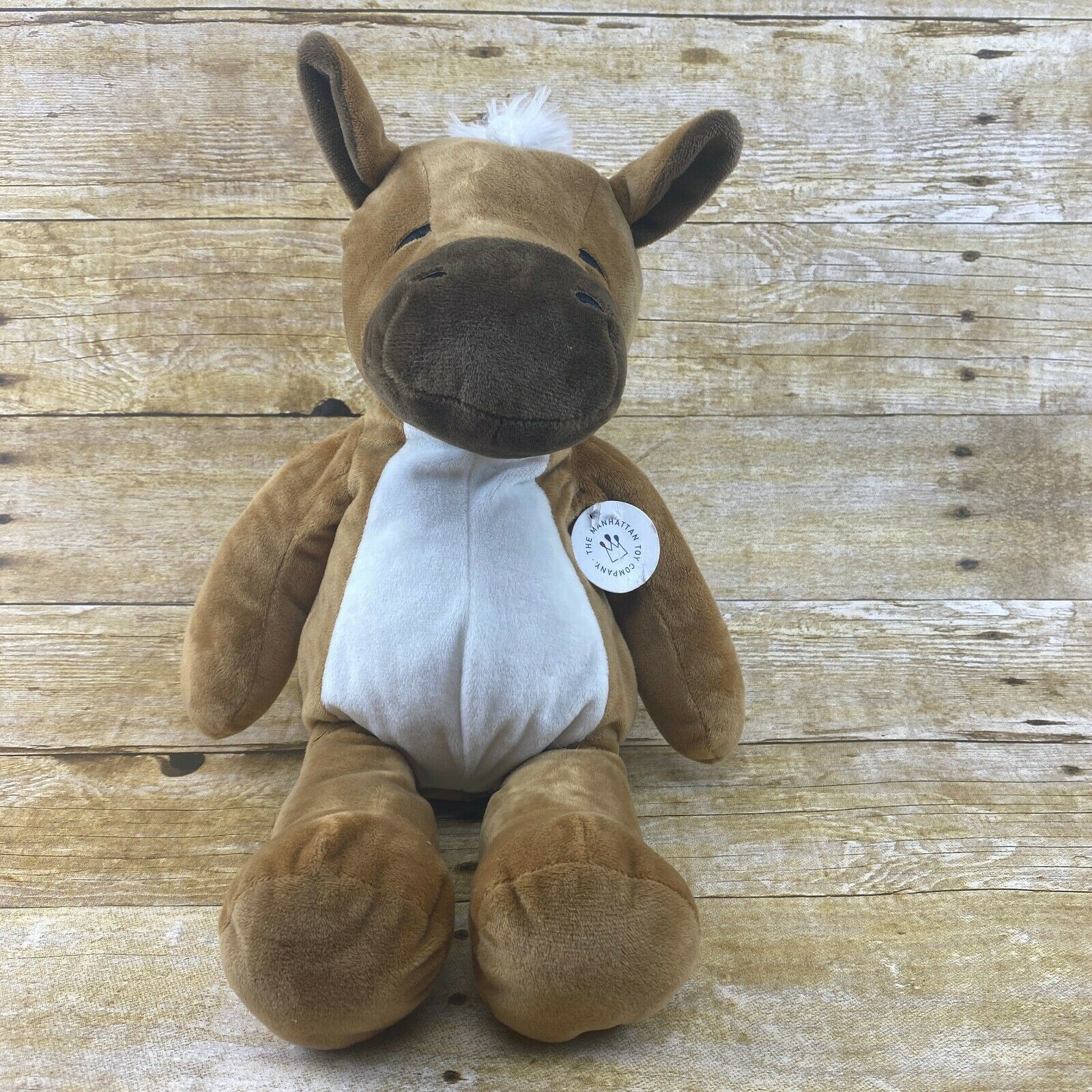 "Primary image for The Manhattan Toy Company Huggables Hugo Horse NEW Plush 15"" 2015 NWT"
