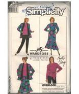 8344 sin Cortar Vintage Simplicity Patrón Costura Mujer Suéter Falda Pan... - $6.92