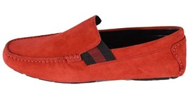 New Gucci Men's Moccasin Leather Suede Loafers Shoes - $320.00