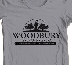 The Walking Dead Woodbury T shirt Zombie horror tv show 100% cotton graphic tee image 1