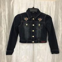 Baby Phat Girlz Size Small Aztec Bolero Style Cat Denim Jacket Short  - $19.80