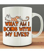 What I'm Doing With Me Living Funny Cat Mug Ginger Cup 11 Oz Coffee Cup - $7.99