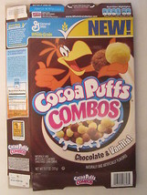 Empty GENERAL MILLS Cereal Box 2008 Cocoa Puffs COMBOS 11.7 oz Vanilla! ... - $10.83