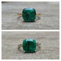 925 Plata de Ley Certificado Handmade 7CT Emerald Anillo Para Amado - $52.08