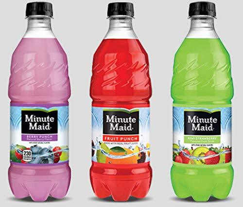 Primary image for Minute Maid Fruit Punch - 6, 20 ounch Bottles (3 Flavor Variety Pack)