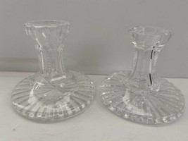 Waterford Crystal Candlesticks Pair 2 Cut Glass Ireland - $38.00