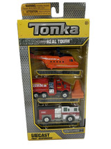 Rare Tonka Diecast First Responders 3 Pack Helicopter Fire Rescue Pumper... - $18.65