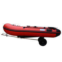 Stainless Steel Boat Launching Trailer Wheels Hand Dolly Small Inflatable Boat image 6