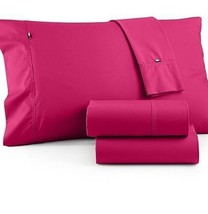 """❤Tommy Hilfiger Core King Size Sheet Set - 100% Cotton Percale-Up to 18""""... - $85.49"""