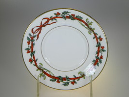 Royal Worcester Holly Ribbons Saucer Only NEW (MADE IN ENGLAND) - $15.85